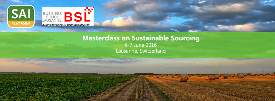 SAI Platform & BSL Masterclass on Sustainable Sourcing